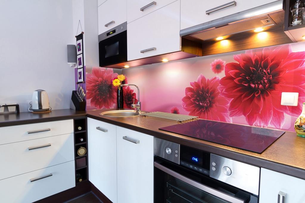 стеклянные фартуки на кухню с фотопечатью каталог вкусные